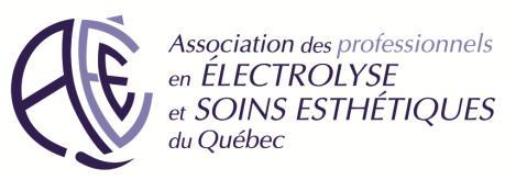 Association des électrolystes et soins esthétiques du québec